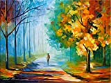 Alone in the Fog is a Limited Edition print from an edition of 400. The artwork is a hand-embellished, signed and numbered Giclee on Unstretched Canvas by Leonid Afremov. This wonderful artwork is one of Afremov's most popular Autumn images. The warm...