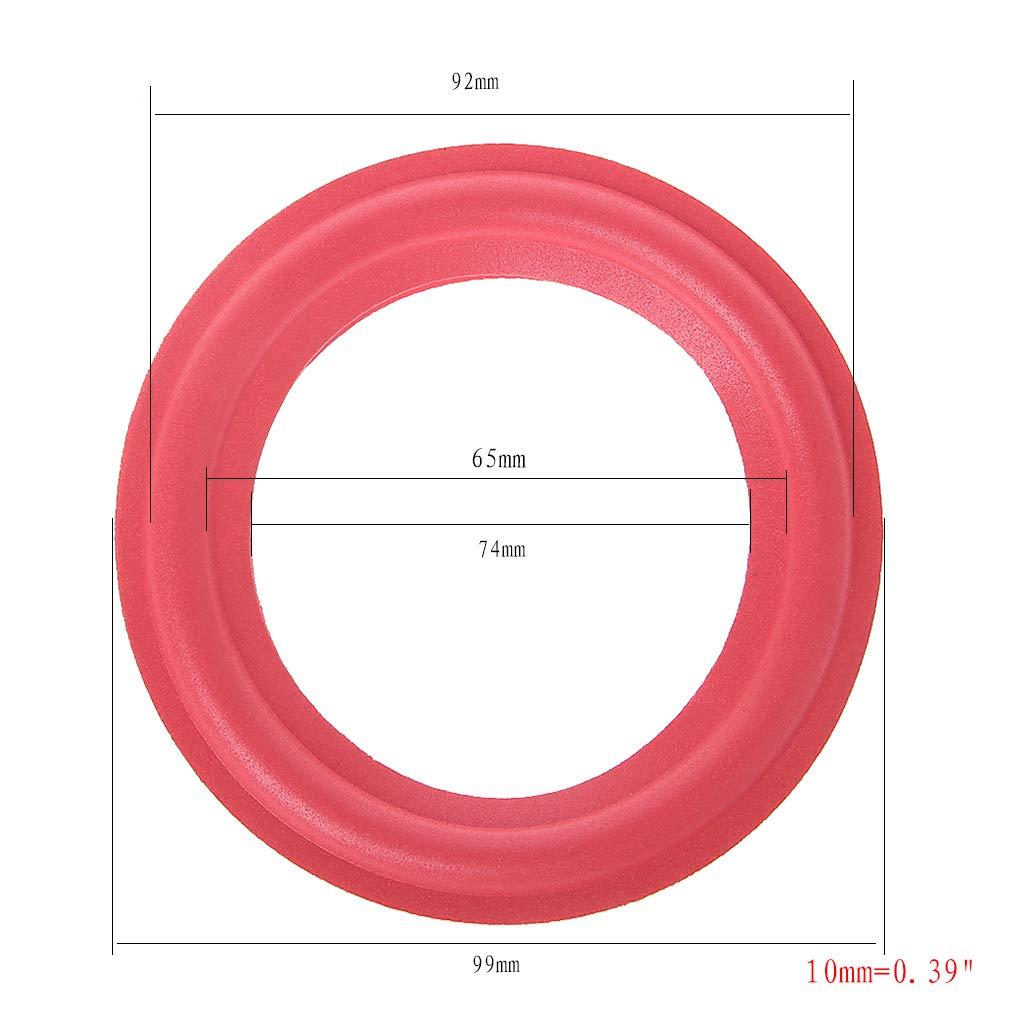 Rosso GROOMY /Schiuma Surround per Altoparlante subwoofer 4 Pollici Set di 2 Accessori per Riparazione Altoparlanti Woofer