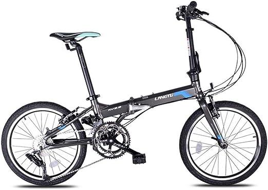 Paseo Bicicleta Plegable 16 Velocidades De Aleación De Aluminio De ...