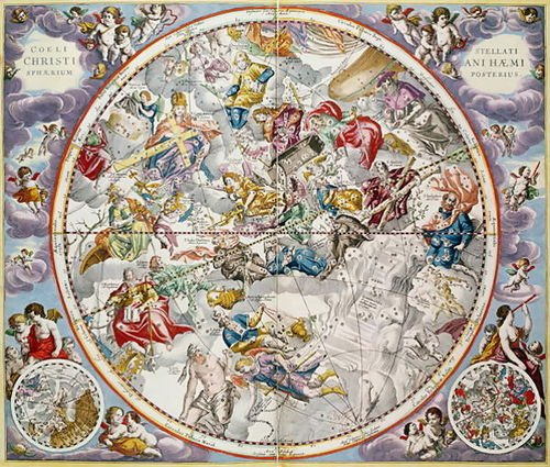 1st Art Gallery Map Of The Christian Constellations As Depicted By Julius Sch... by 1st Art Gallery