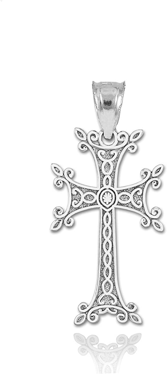 925 Sterling Silver Religious Cross Charm