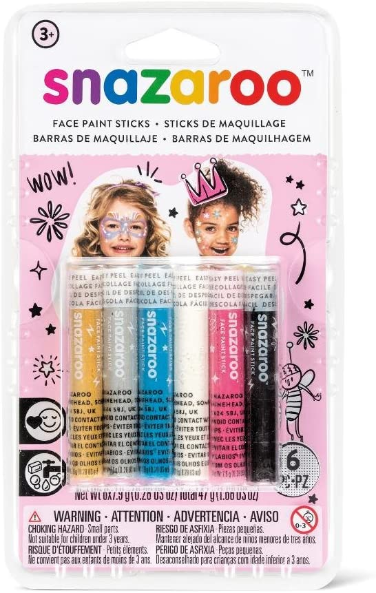 Snazaroo - Set de 6 barras de pintura facial, fantasía: Amazon.es: Juguetes y juegos