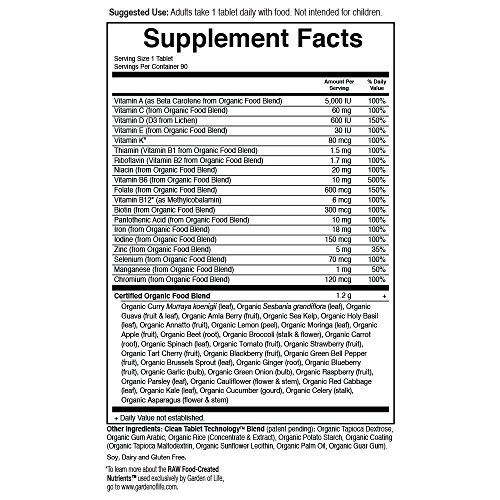 Garden of Life Organic Prenatal Multivitamin Supplement with Folate - mykind Prenatal Once Daily Whole Food Vitamin, Vegan, 90 Tablets by Garden of Life (Image #5)