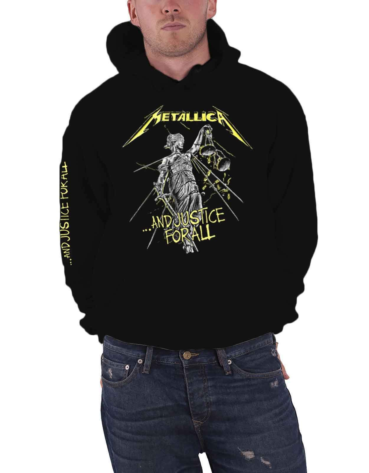 Metallica Hoodie and Justice for All Tracks Official Mens Black Pullover