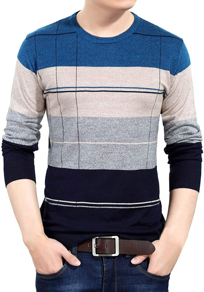 Mens V Neck Long Sleeve Knitted Bowling Sweater Adults Fancy Warm Winter Jumper
