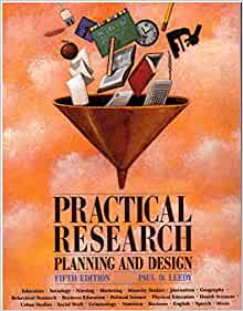 Practical Research Planning Design 5th Edition Paul D Leedy 9780023692420 Books