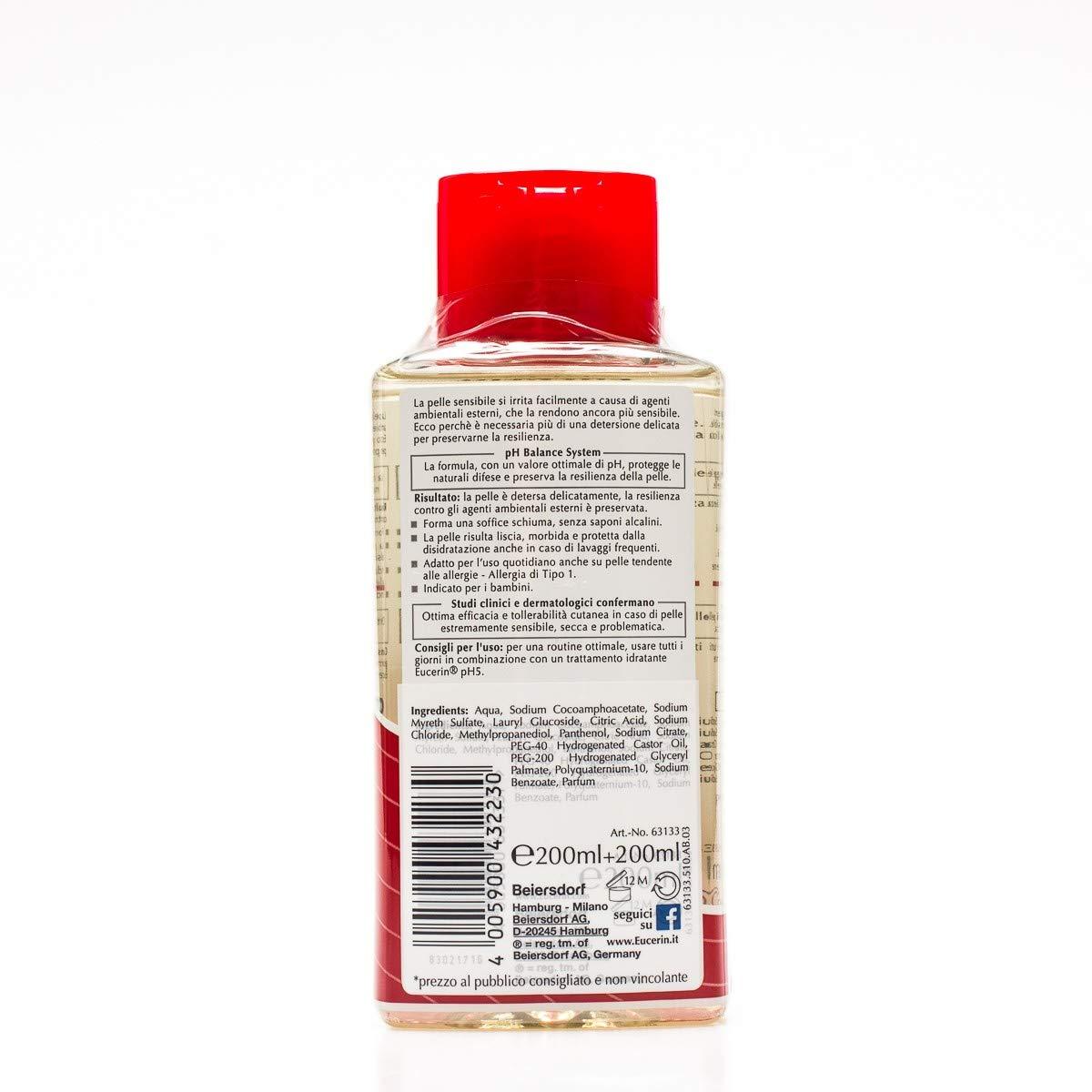 EUCERIN Gel de ducha dermoprotector ph5 BIPACK: Amazon.es ...