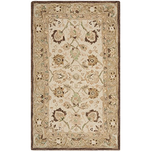 Safavieh Anatolia Collection AN512D Handmade Traditional Oriental Ivory and Brown Premium Wool Area Rug (4′ x 6′)