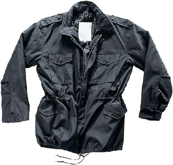 M65 Feldjacke Parka US Style Jacke mit Futter Schwarz