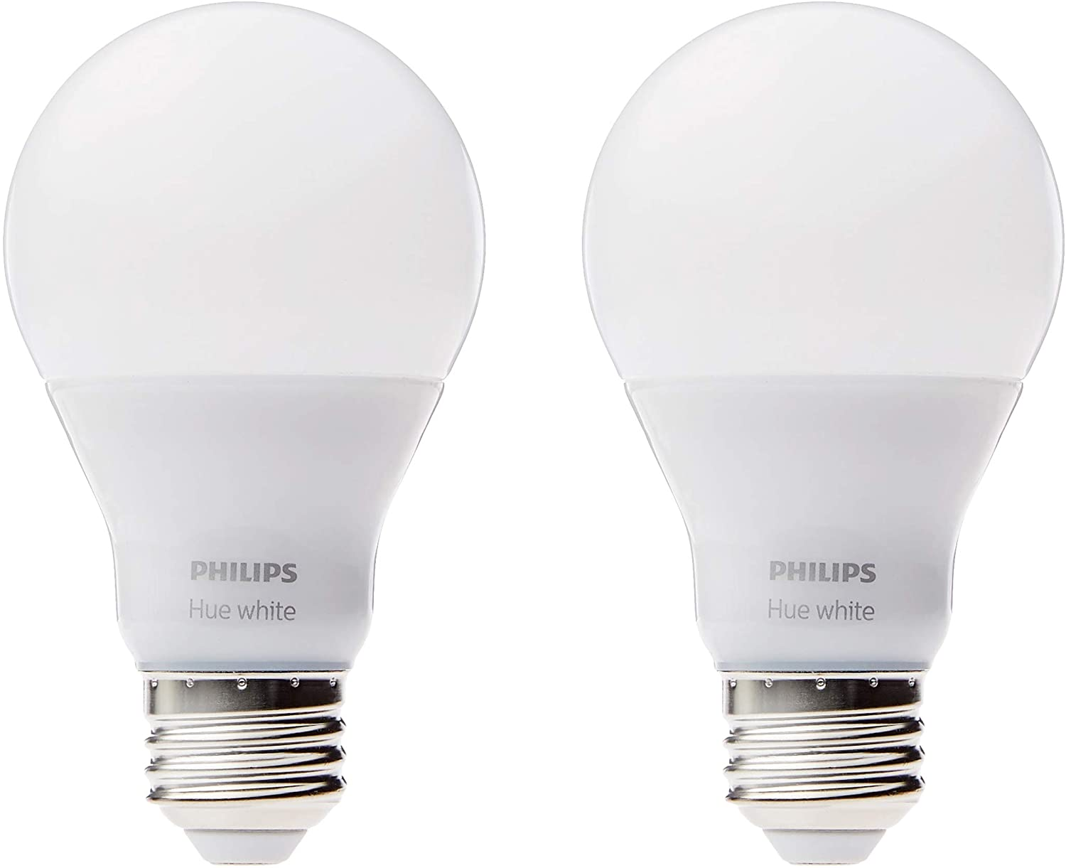 Philips Hue blanco A19 2-Pack 60 W equivalente regulable LED ...