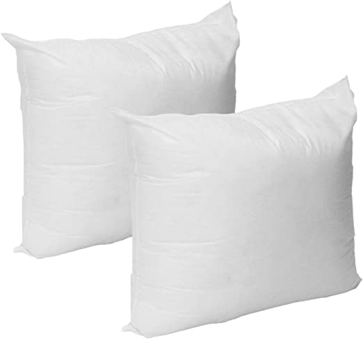 Standard//White Made in USA Set of 2-18 x 18 Premium Hypoallergenic Stuffer Pillow Insert Sham Square Form Polyester