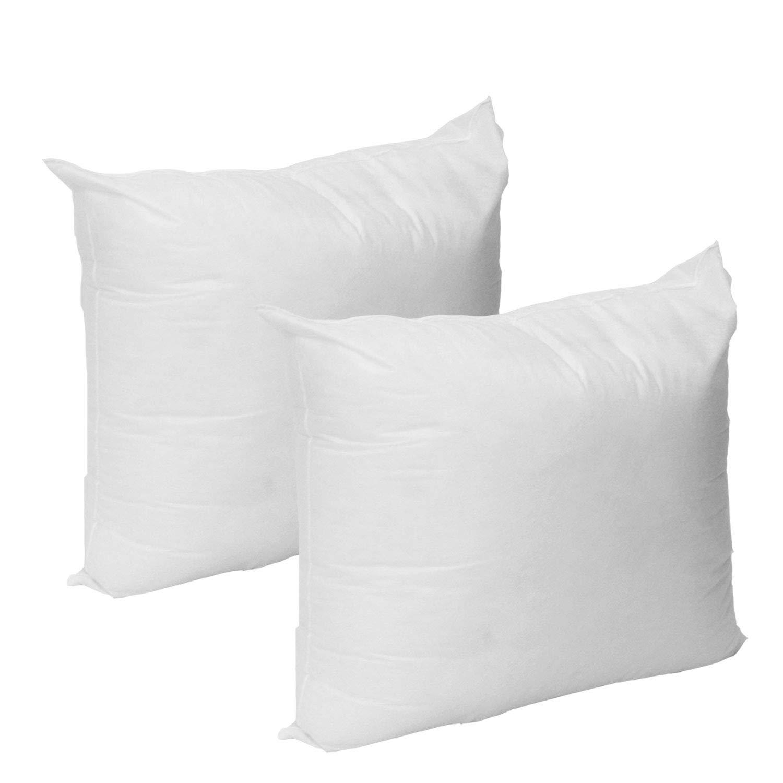 Mybecca Set of 2-18 x 18 Premium Hypoallergenic Stuffer Pillow Insert Sham Square Form Polyester, Standard/White - Made in USA by Mybecca