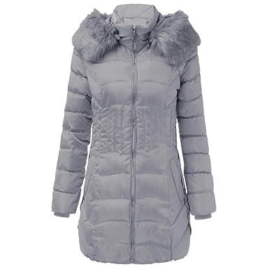 386f00f12b31 Reaso Femme Manteau Hiver Chaud Court Parka à Capuche Cagidgan Elegant  Pullover Mode Veste Jacket Manches