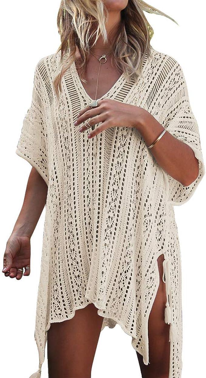 Women/'s Summer Lace Crochet Kimono Cardigan Hollow Out Beach Bathing Suit Tops