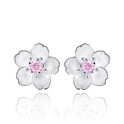 f7d04b971 Fashion Earrings, UMFun Women Lady Girls Black White Rose Flower Stud  Earrings (Pink)