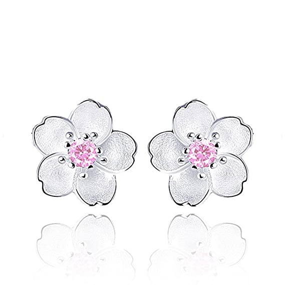 bbb4c19b6 Amazon.com: Fashion Earrings, UMFun Women Lady Girls Black White Rose Flower  Stud Earrings (Pink): Clothing