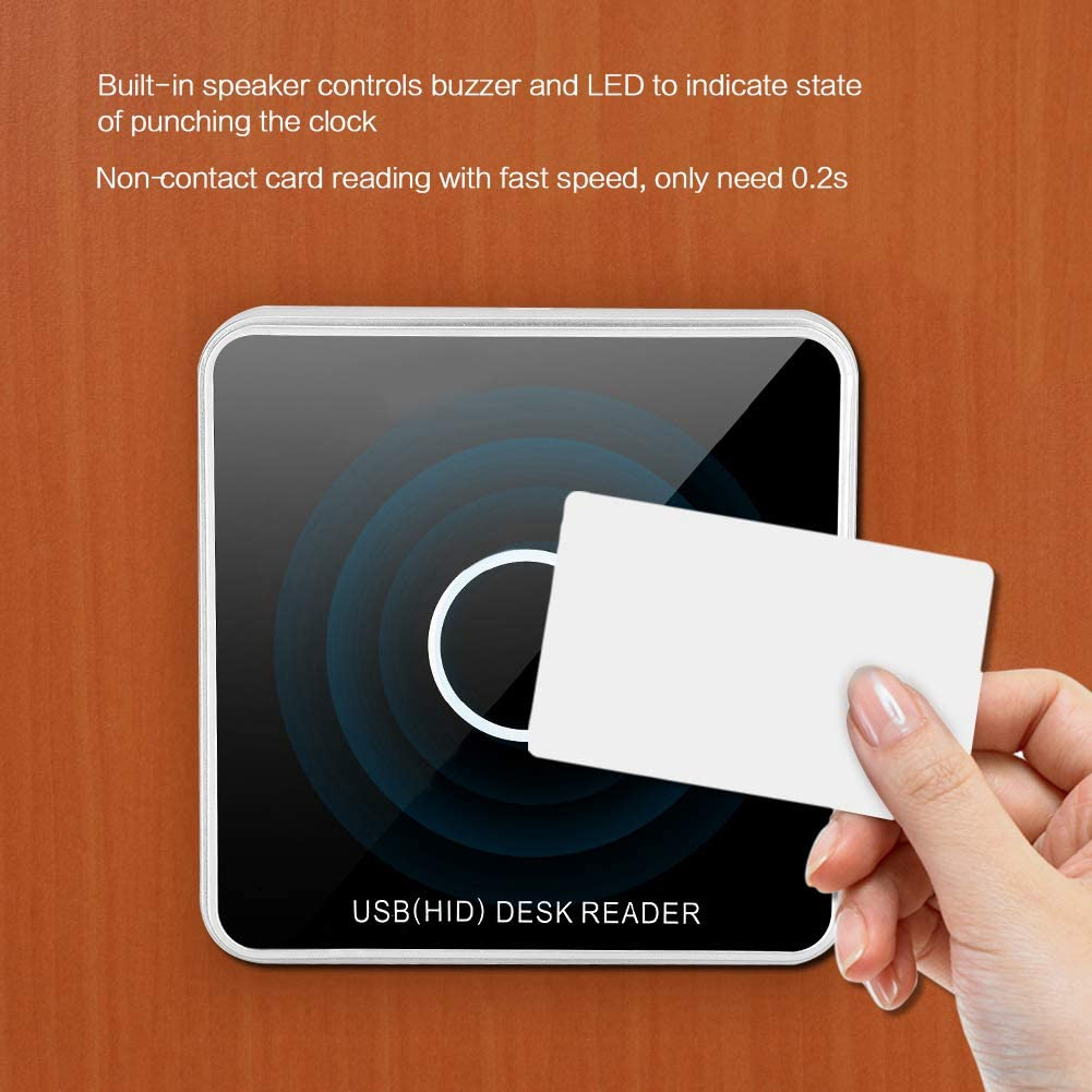 13.56Mhz//IC Card RFID Card Reader,IC//ID Card USB Power Supply RFID Door Access Card Reader,125khz Contactless Proximity Sensor Smart ID Card Reader for Home Office Entry Security System