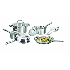 T-fal C811SA Elegance Stainless Steel Cookware Set