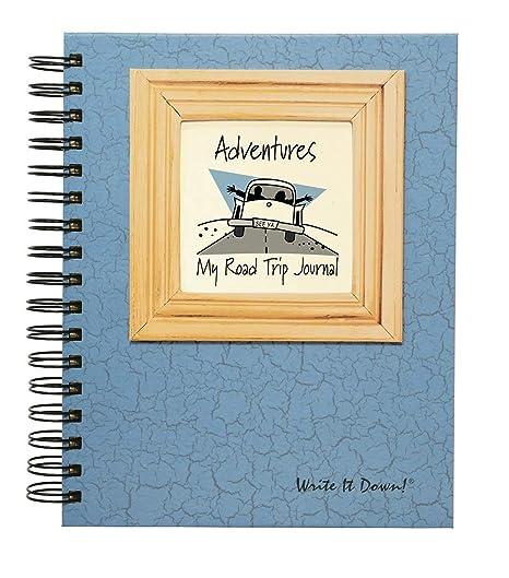amazon com adventure my road trip journal lt blue hard cover