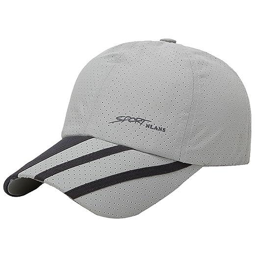 9667998fa44 CSSD Fashion Baseball Caps for Men Outdoor Sport Golf Gentleman Style Sun  Hats (Gray)