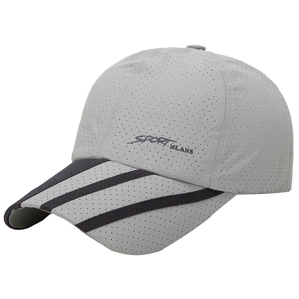 CSSD Fashion Baseball Caps for Men Outdoor Sport Golf Gentleman Style Sun Hats (Gray)