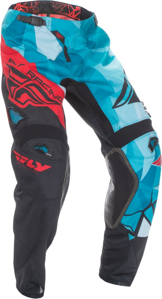 Fly Racing Unisex-Adult Kinetic Crux Pants Teal/Red Size 36