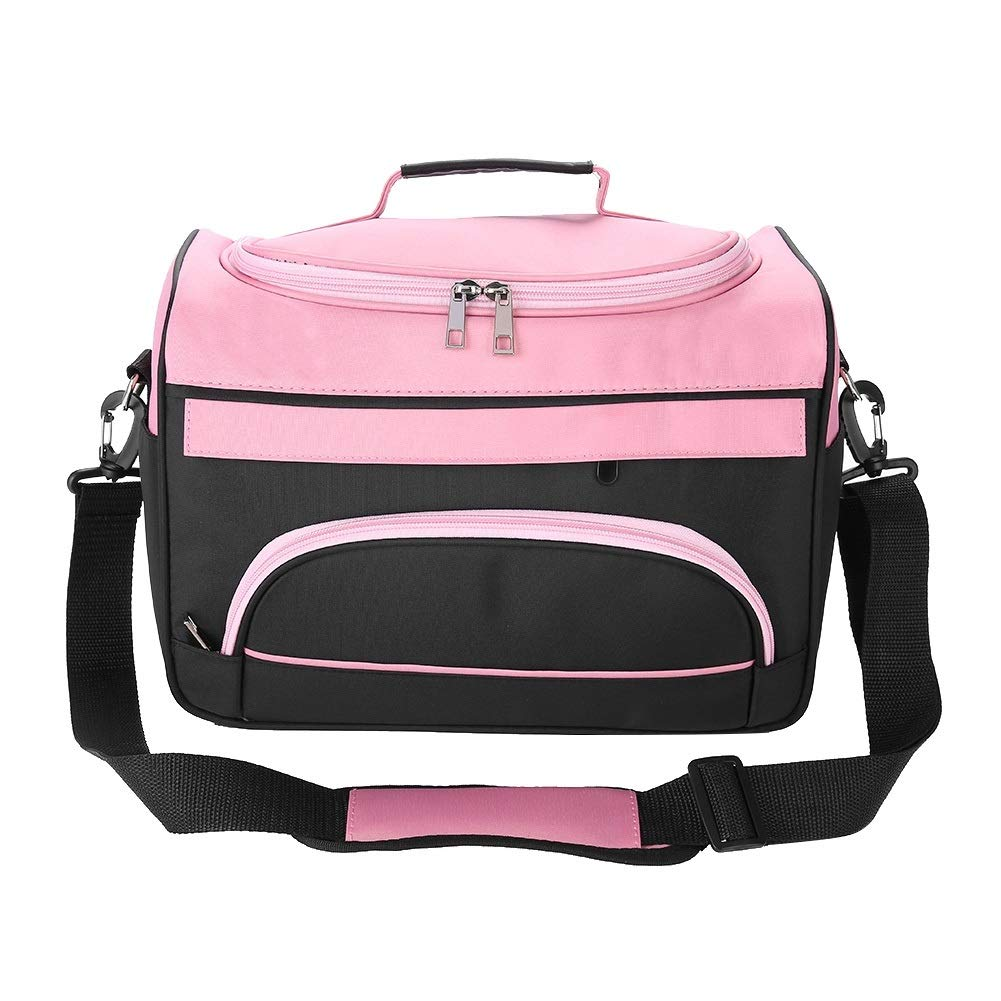 Large Capacity Pro Hairdressing Hair Equipment Salon Tool Carrying Bag Travel Storage Case Bag (Color : Rose Pink) by Yesbaby