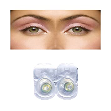 9e30f75741a Sparkle Glossy Green Monthly Disposable Color Contact Lenses without Power   Amazon.in  Beauty