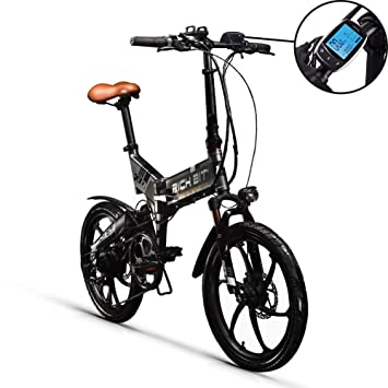 RICH BIT RT730 Bicicleta Eléctricas LCD Inteligente Bicicleta Plegable Bicicleta eBike 250W * 48V * 8Ah Li-batería Disco Freno Ciudad de 20 Pulgadas ...