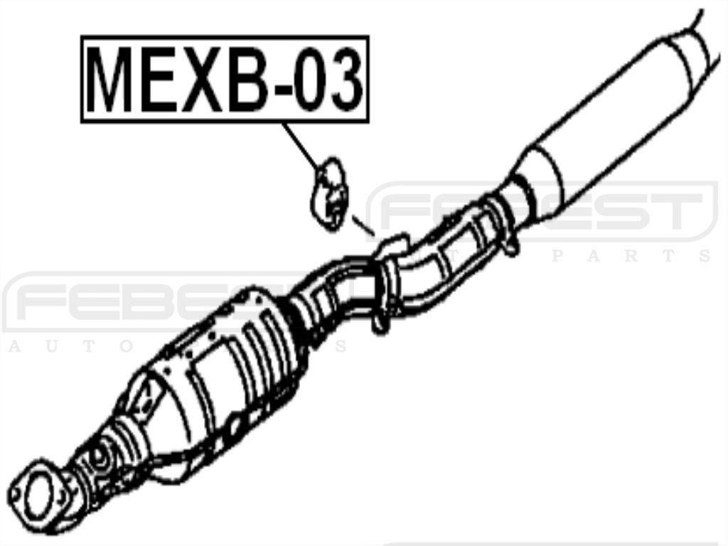 FEBEST MEXB-03 Exhaust Pipe Support