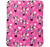 Disney Minnie Mouse Bowtique Minnie Hearts 40' x 50' Travel Blanket
