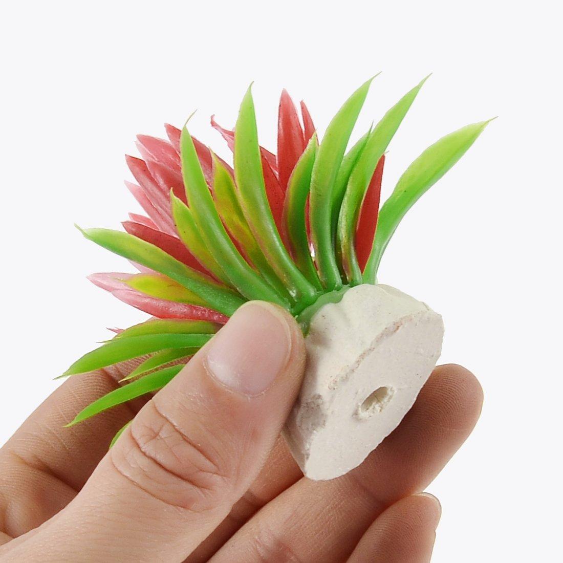 Amazon.com : eDealMax Flores hierba Planta Aquaric plástico pecera artificiales Submarino 10pcs : Pet Supplies