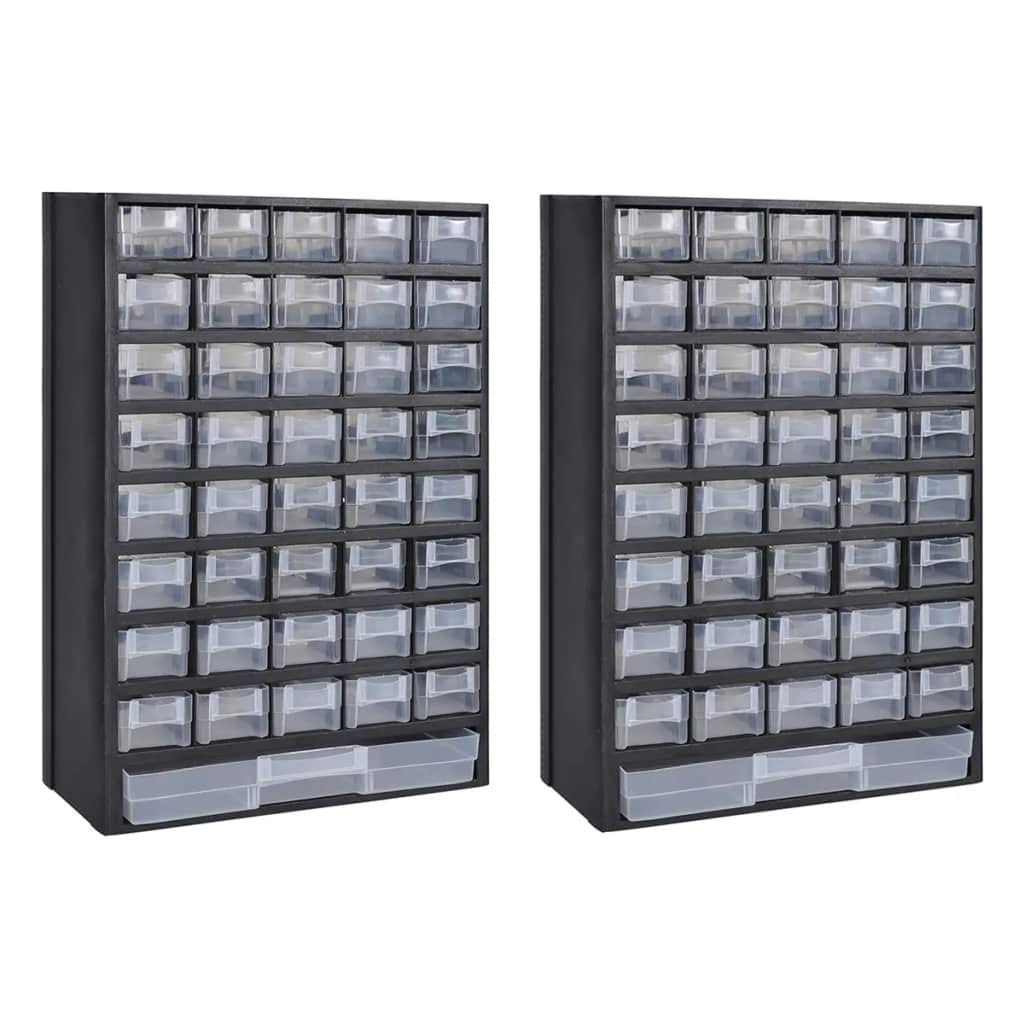Tidyard Craft Cabinet 41Drawer Parts Hardware Storage Cabinet Tool Box 2 pcs Plastic by Tidyard
