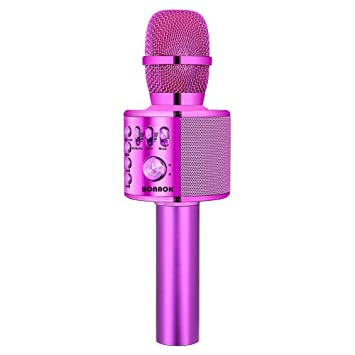 BONAOK Wireless Bluetooth Karaoke Microphone,3-in-1 Portable Handheld  karaoke Mic Speaker Machine Christmas Birthday Home Party for  Android/iPhone/PC