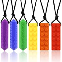 Sensory Chew Necklace Diamond Chew Necklaces for Sensory Kids, chewable Jewelry for Kids Made from Food Grade Silicone…