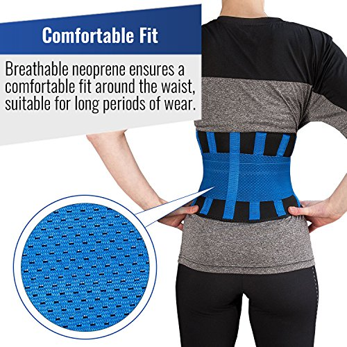 Iron Bull Strength Medi-Gear Back Brace - Lumbar Support Belt for Lower Back Pain - Posture Corrector and Stabilizer with Dual Adjustable Straps (Medium) by Iron Bull Strength (Image #3)