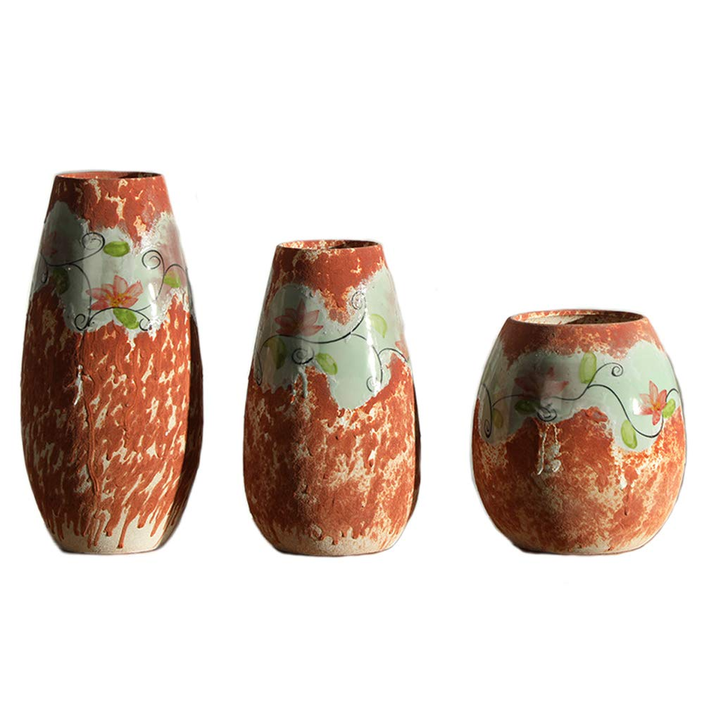 セラミック人工花の花瓶、現代ヨーロッパの純粋な手作りの花びん 装飾の部屋台所、家、オフィス、結婚式 B07R14MKTT