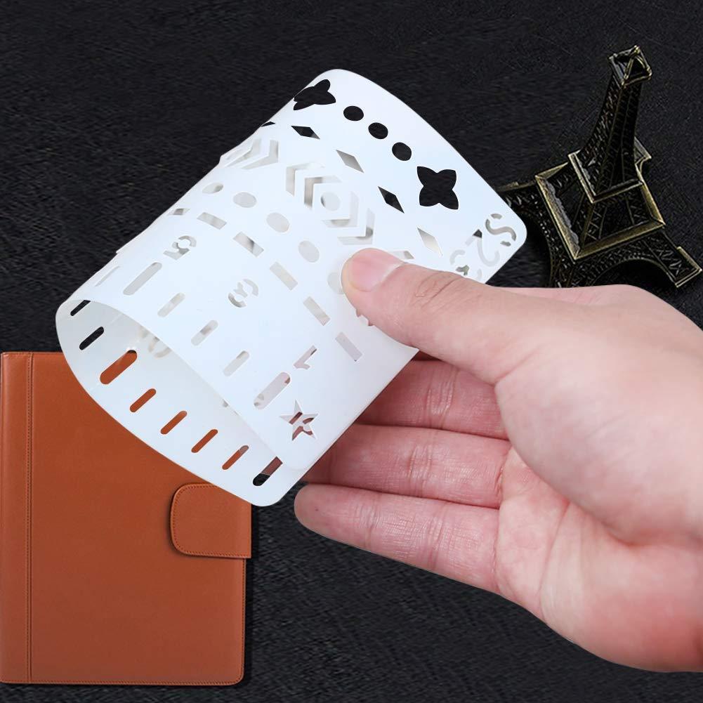 Koogel 24 Blätter Zeichenschablonen, Schablonen Set zum Nachzeichen für Bullet Journal, Scrapbooking, Textilgestaltung, Gästebuch, DIY Geschenkkarten