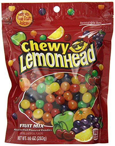 Lemonhead & Friends Chewy Candy, Fruit Mix, 10 Ounce Bag, Pack of 6