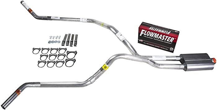 Truck Exhaust Kits DIY dual exhaust system 2.25 pipe Flowmaster 50
