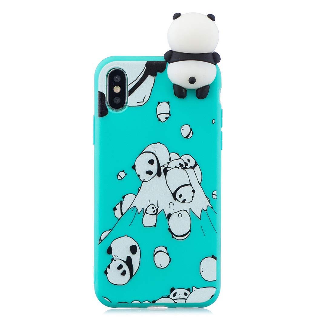EuCase Funda iPhone XS Silicona 3D Dibujos Carcasa iPhone X Antigolpes Suave TPU Flexible Goma Ultra Delgada Cubierta Protector Bumper Case para Caja Tapa Carcasa Nariz de Cerdo