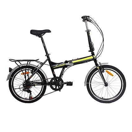 WHKJZ Unisex Aleación Aluminio Bicicleta Plegable 20 Pulgada ...