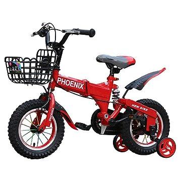 SHX ETWL Bikes Bicicleta Plegable para niños a Prueba de Golpes ...