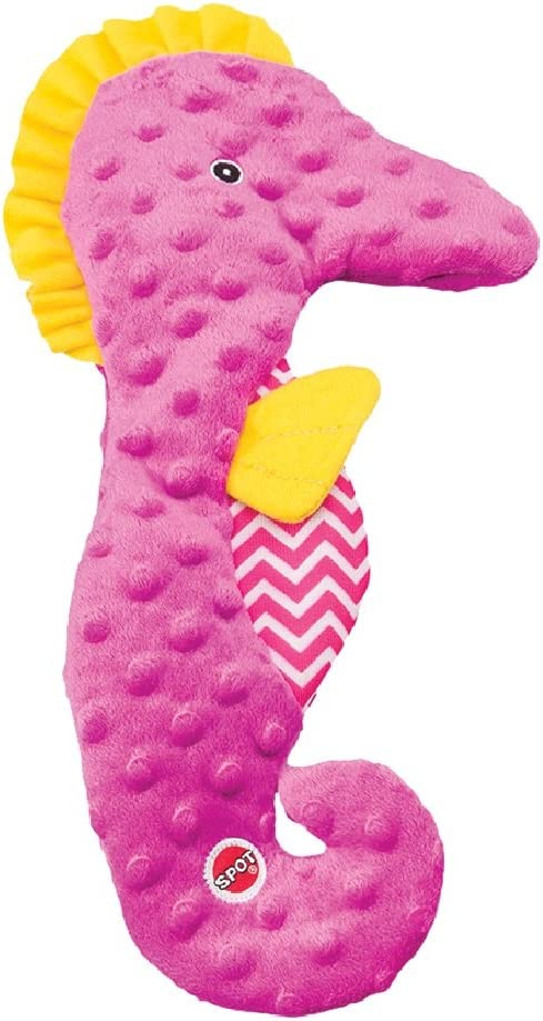 "SPOT Ethical Pets Skinneeez Extreme Stuffingless Seahorse Dog Toy, 15"", Assorted (54118.0)"