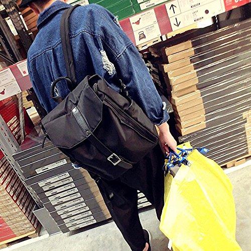 ZHUDJ Amor Hombre Coreano Mochila Bolsa Mochila Hombre Metrosexual Moda Masculina Juvenil Japonesa Calle Bolsa, Negro black