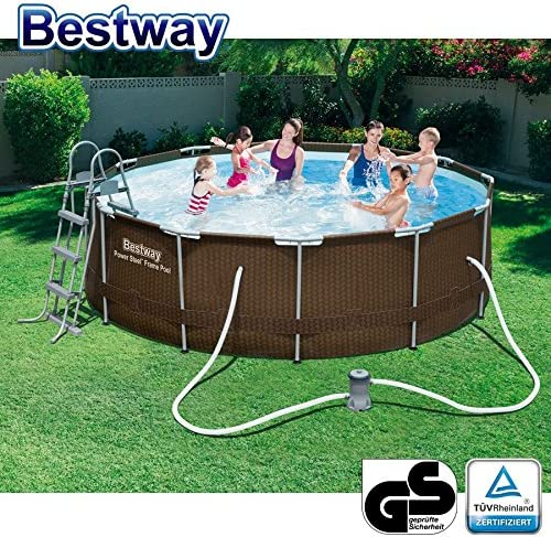 Bestway ratán Frame Pool 366 x 100 cm: Amazon.es: Jardín