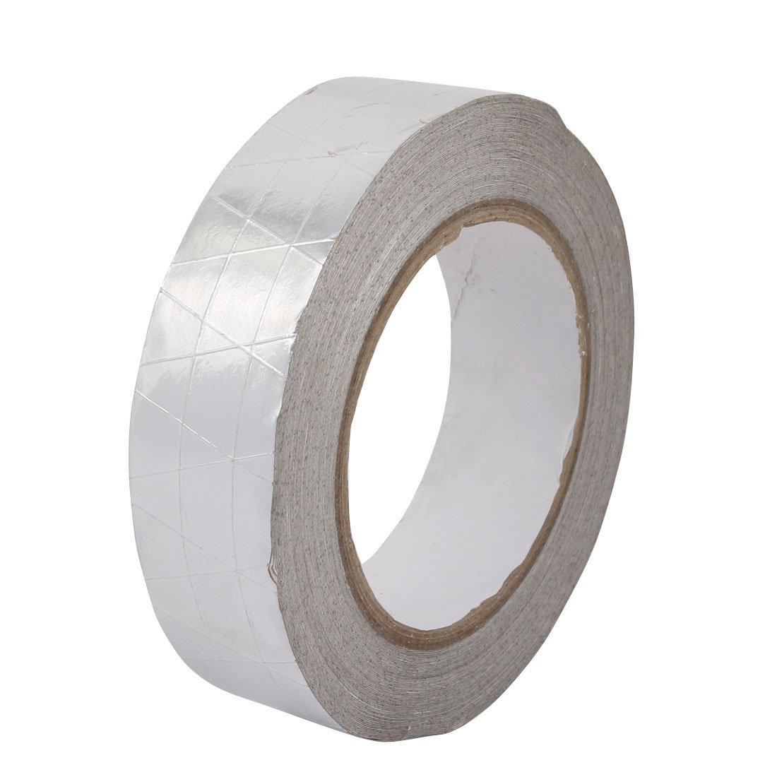 uxcell Aluminum Foil-Scrim-Kraft Insulation Jacketing Tape 20 Meter Length x 30mm Width
