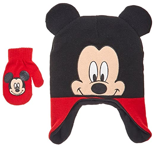 45302e7d0205e Image Unavailable. Image not available for. Color  Disney Mickey Mouse  Toddler Little Boys Winter Hat ...