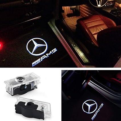 znystar LED Puerta Proyección Ghost Shadow Logo (1 par, Benz CLA ...