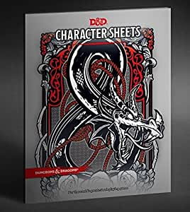 Dungeons & Dragons - Character & Spell Sheets with Premium Folder (5th Edition)